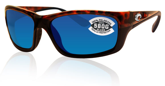 Costa Del Mar Jose Tortoise Frame Blue Mirror 580G Glass Polarized Lens