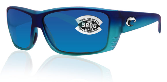 Costa Del Mar Cat Cay Caribbean Frame Blue Mirror 580G Glass Polarized Lens