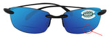 Costa Del Mar Ballast Readers C-Mate Black +2.50 Blue Mirror 580P Plastic Lens
