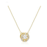 Swarovski sparkling dance round necklace white gold-tone plated 5284186