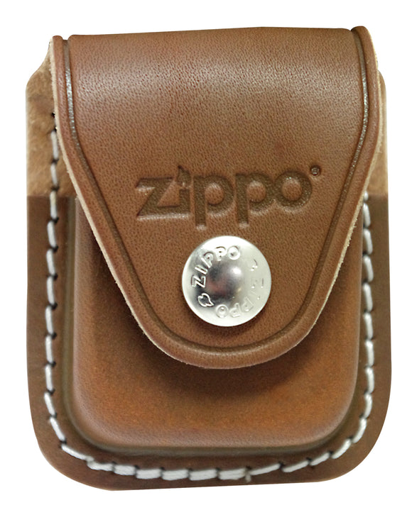 Zippo pouch LPCB genuine brown leather for Lighters