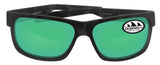 Costa Del Mar Half Moon Ocearch Tiger Shark Frame Green Mirror 580P Plastic Lens