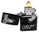Zippo 29566 007 James Bond Black Matte Finish Windproof Pocket Lighter New