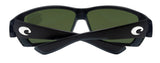 Costa Del Mar Tuna Alley Matte Black Frame Blue Mirror 580G Glass Polarized Lens