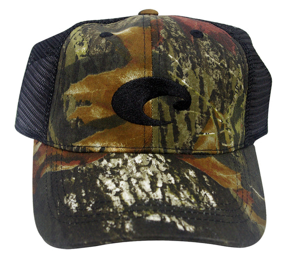 Costa Del Mar Mesh Hat Mossy Oak New Breakup Black Adjustable cap HA04CBL new