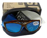 Costa Del Mar Fisch Tortoise Frame Blue Mirror 580 Glass Polarized Lens