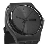 Swatch SUOB702 Black Rebel Day Date Dial Silicone Rubber Band Unisex Watch