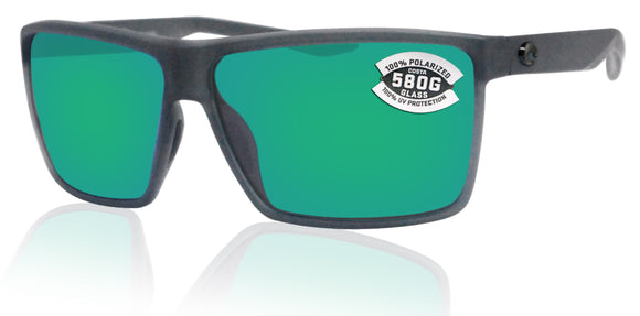 Costa Del Mar Rincon Smoke Frame Green Mirror 580G Glass Polarized Lens