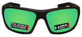 Under Armour 8630098-010126 launch black rubber frame green polarized lens new
