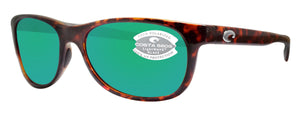 Costa Del Mar Prop Tortoise Frame Green Mirror 580G Glass Polarized Lens