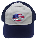 Costa Del Mar United Trucker Hat Navy Blue Gray Adjustable NEW cap HA51N