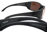 Costa Del Mar Blackfin Gray Frame Copper Silver Mirror 580G Glass Polarized Lens