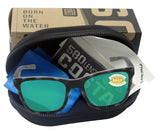 Costa Del Mar Panga Matte Gray Tortoise Green Mirror 580 Plastic Polarized Lens