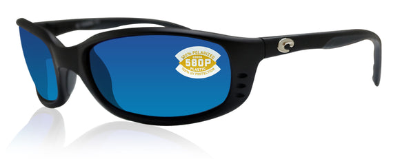 Costa Del Mar BR11OBMP Brine Matte Black Blue Mirror 580P Polarized Lens