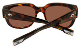 Costa Del Mar Waterwoman Shiny Palm Tortoise Copper 580 Plastic Polarized Lens