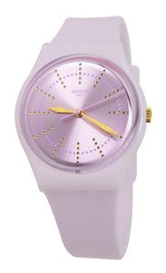 Swatch GP148 Guimauve Pink Silicone Band Watch New