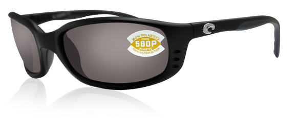 Costa Del Mar Brine Matte Black Frame Gray 580P Plastic Polarized Lens