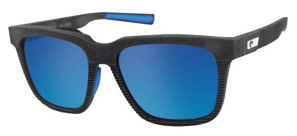 Costa Del Mar Pescador Net Gray Frame Blue Mirror 580G Glass Polarized Lens