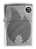 Zippo 29429 Illusion Flame Brushed Chrome Finish Windproof Pocket Lighter New