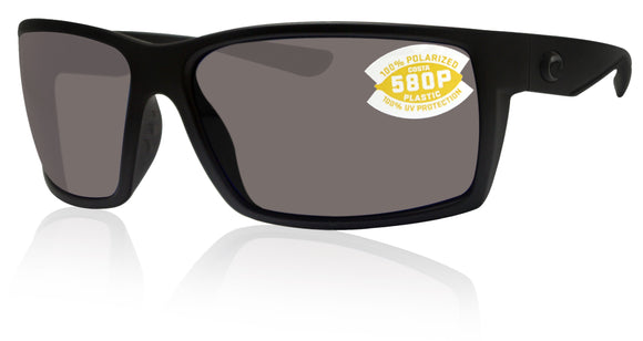 Costa Del Mar Reefton Blackout Frame Gray 580 Plastic Polarized Lens