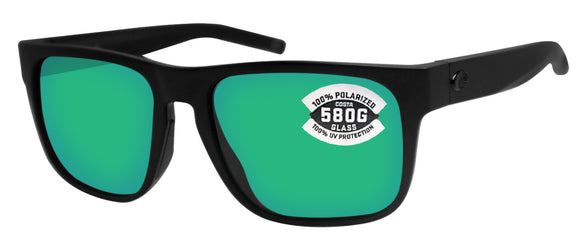 Costa Del Mar Spearo Blackout Blue Mirror 580 Glass Polarized Lens