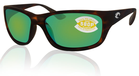 Costa Del Mar Tasman Sea Tortoise Frame Green Mirror 580P Plastic Polarized Lens