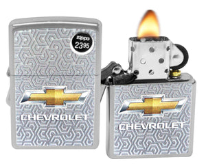 Zippo Lighter 29745 Chevrolet Bowtie Logo Street Chrome Finish Windproof New