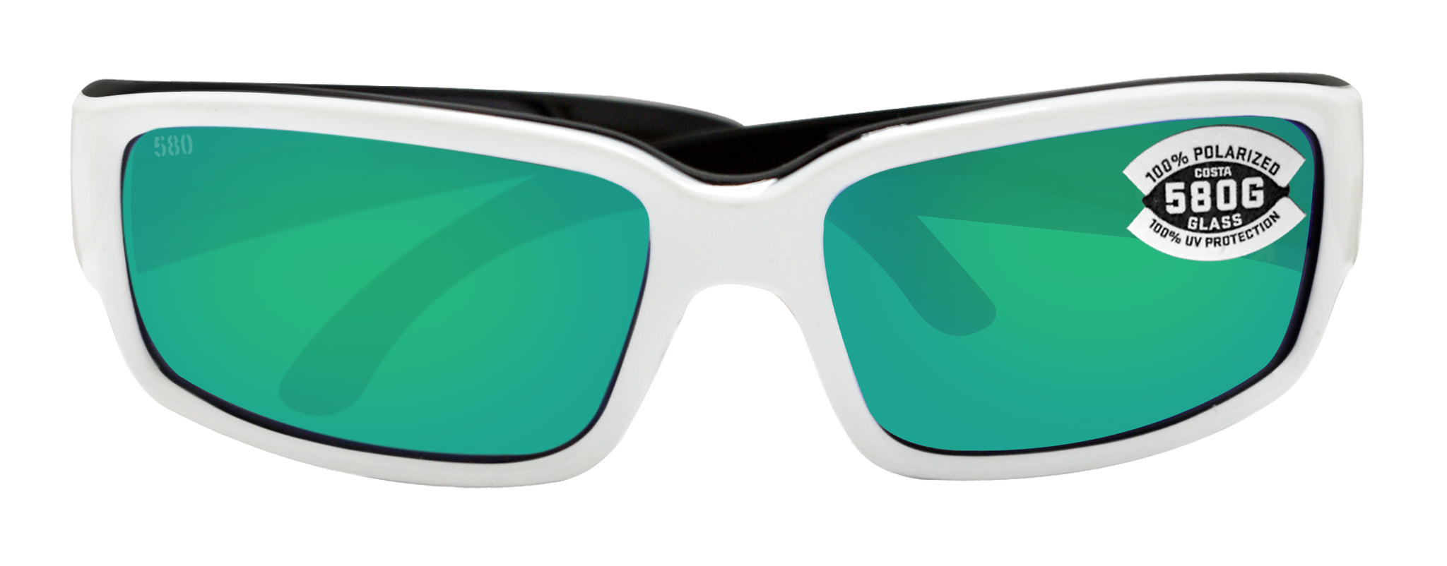 115ae359f050 ... Costa Del Mar Caballito White Black Frame Green Mirror 580G Glass  Polarized Lens ...