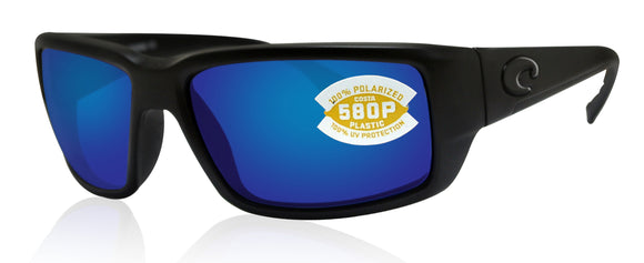 Costa Del Mar Fantail Blackout Frame Blue Mirror 580P Plastic Polarized Lens