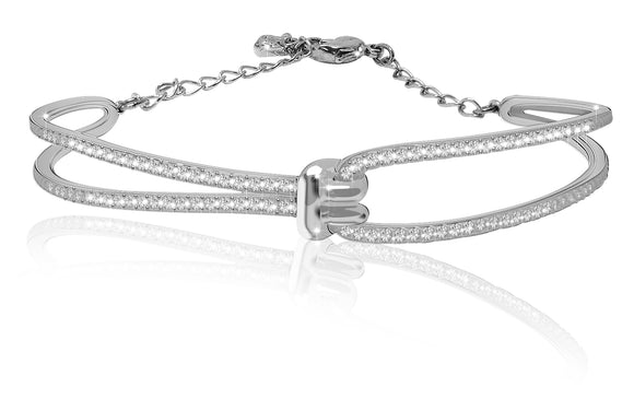 Swarovski lifelong bangle white rhodium plated 5368552