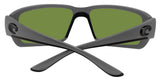 Costa Del Mar Fantail Matte Gray Frame Green Mirror 580P Plastic Polarized Lens