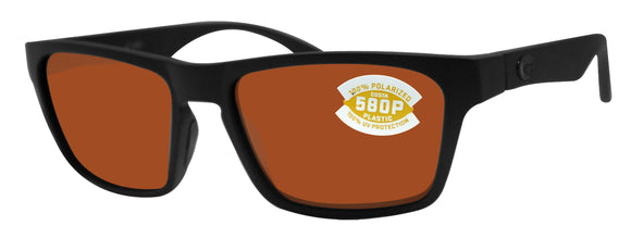30985c7322 Costa Del Mar Hinano Blackout Frame Copper 580P Plastic Polarized Lens