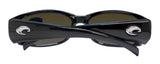Costa Del Mar Hammerhead Shiny Black Frame Blue Mirror 580G Glass Polarized Lens