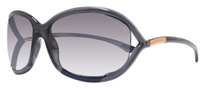 Tom Ford FT0008 Jennifer Soft Square Dark Gray 61 mm Lens Sunglasses TF8 B5 New