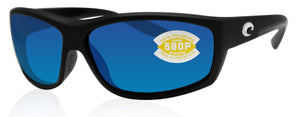Costa Del Mar Saltbreak Black Frame Blue Mirror 580P Plastic Polarized Lens