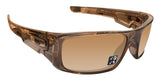 Oakley Crankshaft Brown Smoke Frame Tungsten Iridium Polarized Authentic Lens Sunglasses