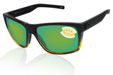 Costa Del Mar Slack Tide Black Tortoise Green Mirror 580P Plastic Polarized Lens