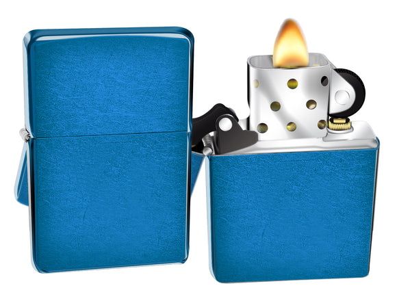 Zippo Lighter 24534 Cerulean Blue Windproof Classic NEW