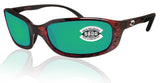 Costa Del Mar Brine Tortoise Frame Green Mirror 580G Glass Polarized Lens