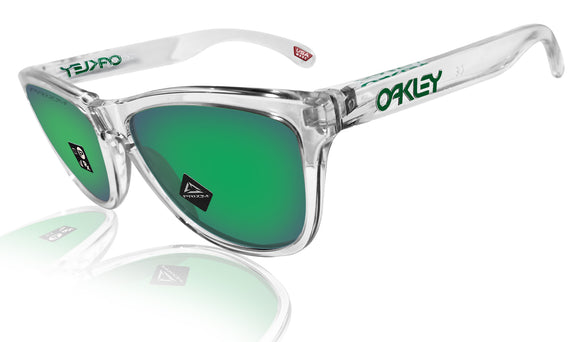 Oakley Frogskins Crystal Clear Prizm Jade Lens Authentic Sunglasses 0OO9013