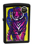 Zippo 29714 Jungle Tattoo Tiger Vibrant Black Matte Finish Windproof Lighter