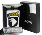 Zippo 29185 US Army 101st Airborne Eagle Brushed Chrome Windproof Lighter