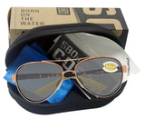 Costa Del Mar Loreto Rose Gold Tortoise Frame Gray 580 Plastic Polarized Lens