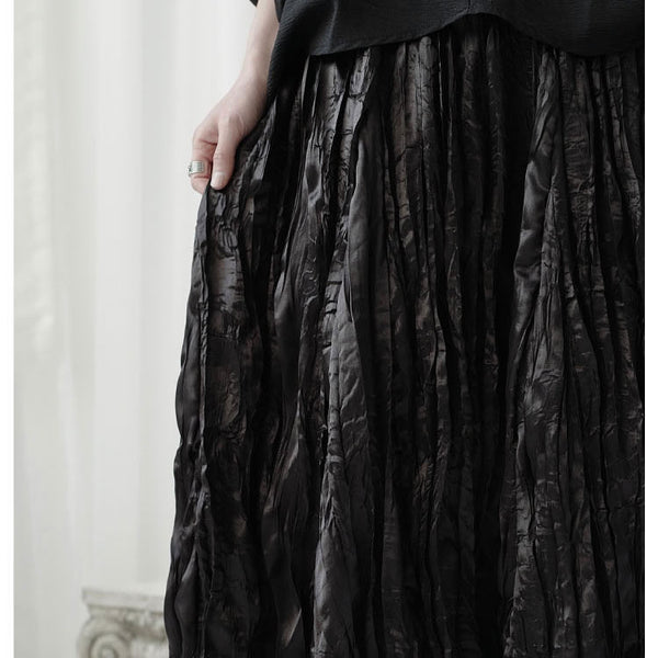 The SKANDi Satin Crush Skirt