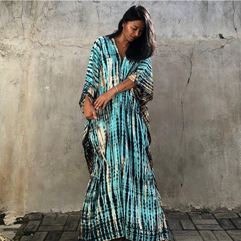The SKANDi Resort Kaftan - Turquoise