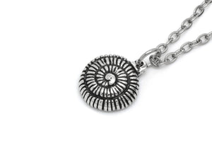 Ammonite Pendant Necklace, Mollusc Fossil Jewelry