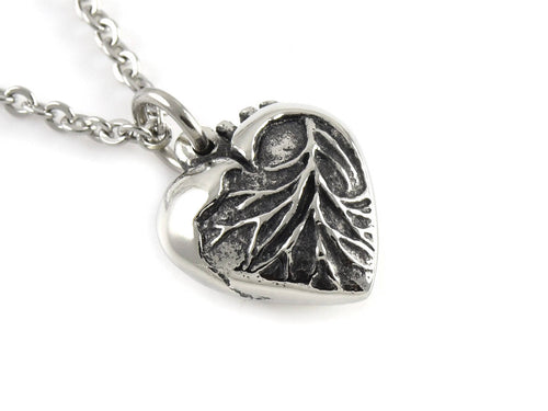 Anatomical Heart in Shape of a Traditional Heart Necklace