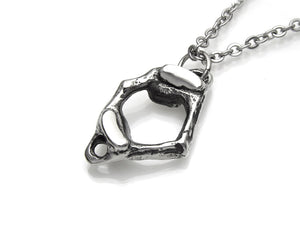 C1 Atlas Vertebra Necklace, Anatomy Jewelry in Pewter