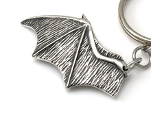 Bat Wing Keychain, Animal Keyring in Pewter