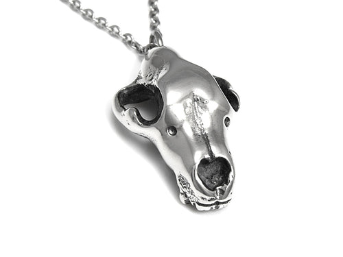 Swedish Bear Skull Necklace, Animal Jewelry in Pewter
